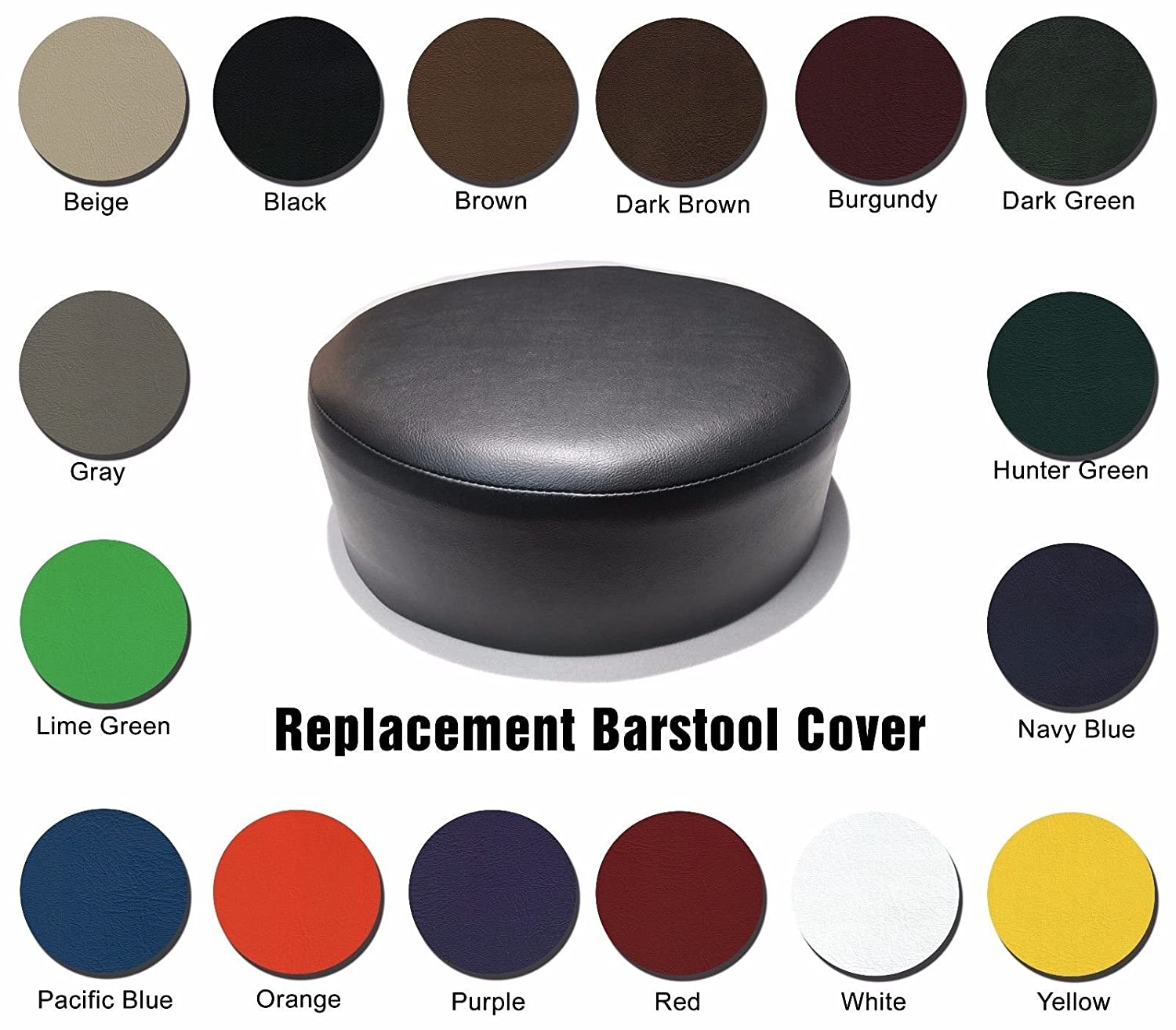 Peachy Bar Stool Cover Replacement Staple On Seat Top Made With Heavy Duty Commercial Grade Vinyl 14 Inch Diameter Black Ncnpc Chair Design For Home Ncnpcorg