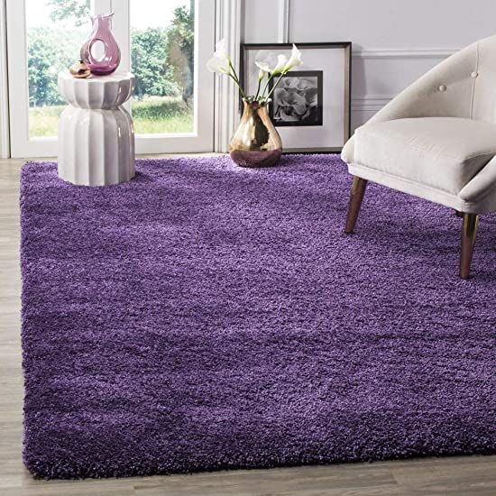 D H Crafted Purple Shag Woven Area Rug 3' x 5'