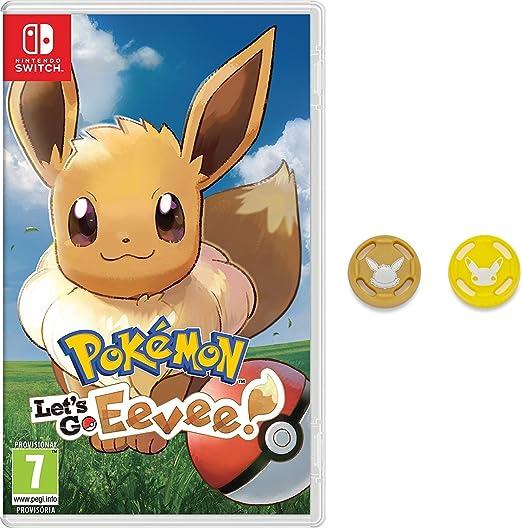 Pokémon: Lets Go, Eevee! + Grips para Joy-Con: Amazon.es: Videojuegos