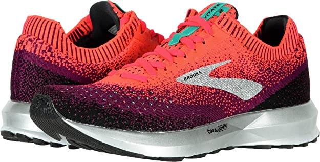 Brooks Women's Levitate 2 Pink/Black/Aqua 5.5 B US