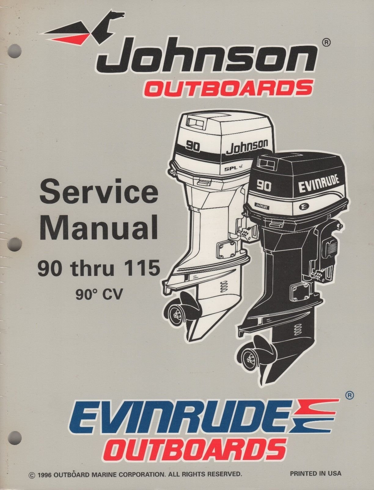 1997 JOHNSON EVINRUDE OUTBOARD 90 THRU 115, 90' CV SERVICE MANUAL (321):  OMC: Amazon.com: Books