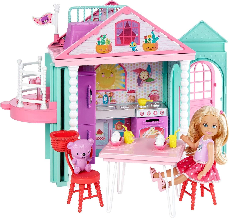 Barbie-Dwj50 Casita de Chelsea con accesorios, multicolor, talla única (Mattel DWJ50)