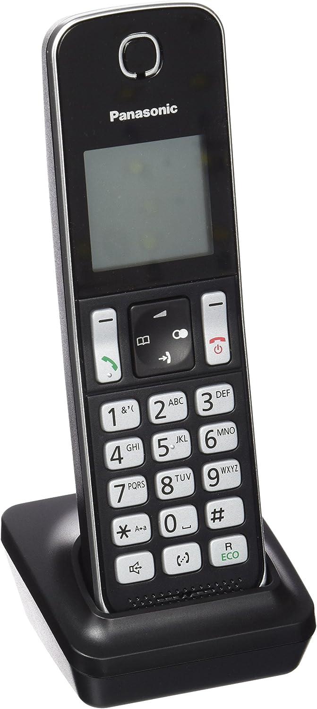 Panasonic KX-TGDA30EXB - Teléfono inalámbrico (Gran Alcance, Base Fina y compacta, Bloqueo de Llamadas, Modo No Molestar, batería 200 h), Color Negro