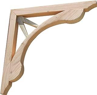 product image for SamsGazebos V Teardrop Designer Wood Corbels, 2-Pack, 16 inches