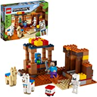 LEGO Minecraft The Trading Post 21167 Collectible Action-Figure Playset with Minecraft's Steve and Skeleton Toys, New…