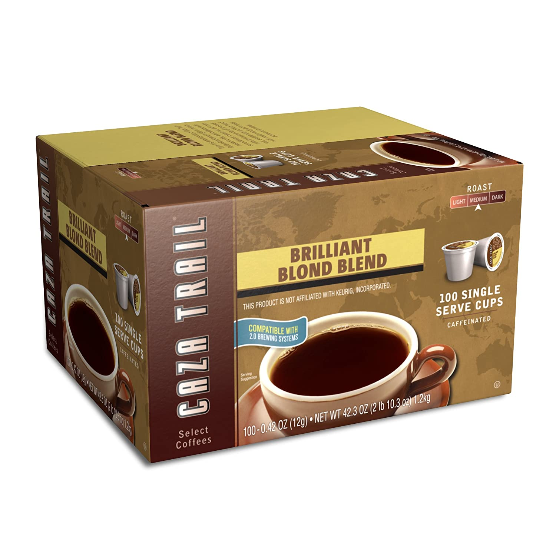 Caza Trail Coffee, Blonde Roast, 100 Single Serve Cups
