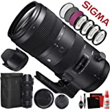 Sigma 70-200mm f/2.8 DG OS HSM Sports Lens for Nikon F (590955) with FLD Filter, CPL Filter, UV Filter - Close Up Filter Kit and Cleaning Accessories Bundle