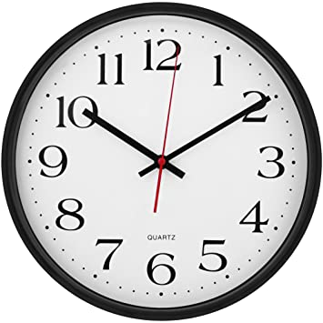 Large Wall Clock Silent U0026 Non Ticking   Modern Quartz Design   Decorative  12