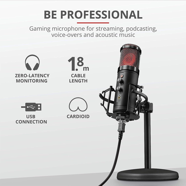 Trust Gxt 256 Exxo Usb Gaming Mikrofon Für Pc Ps4 Und Computer Zubehör