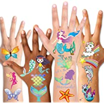 for Party Favors and Supplies Stocking Stuffers and Goodie Bags 166 Tattoos on 8 Sheets for Boys and Girls Twink Designs Temporary Tattoos for Kids Fake Metallic Temporary Tatoos for Children