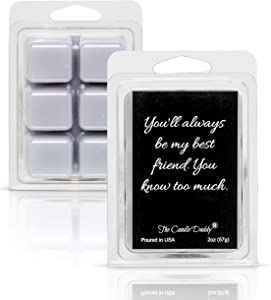 The Candle Daddy You'll Always Be My Best Friend - Cedar Rose Scented Melt- Maximum Scent Wax Cubes/Melts- 1 Pack -2 Ounces- 6 Cubes