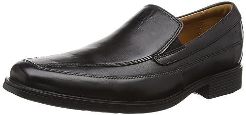 uk availability 0ef50 3faf9 Clarks Tilden Free, Herren Slipper, Schwarz (Black Leather)