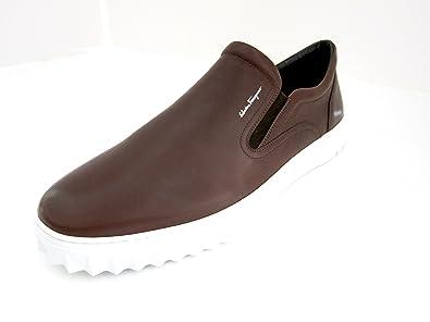 1ef6e469596f Salvatore Ferragamo Crew 2 Mens Maroon Leather Slip on Shoes Made in Italy  (11 M