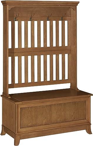Powell Furniture Oak Hall Tree,