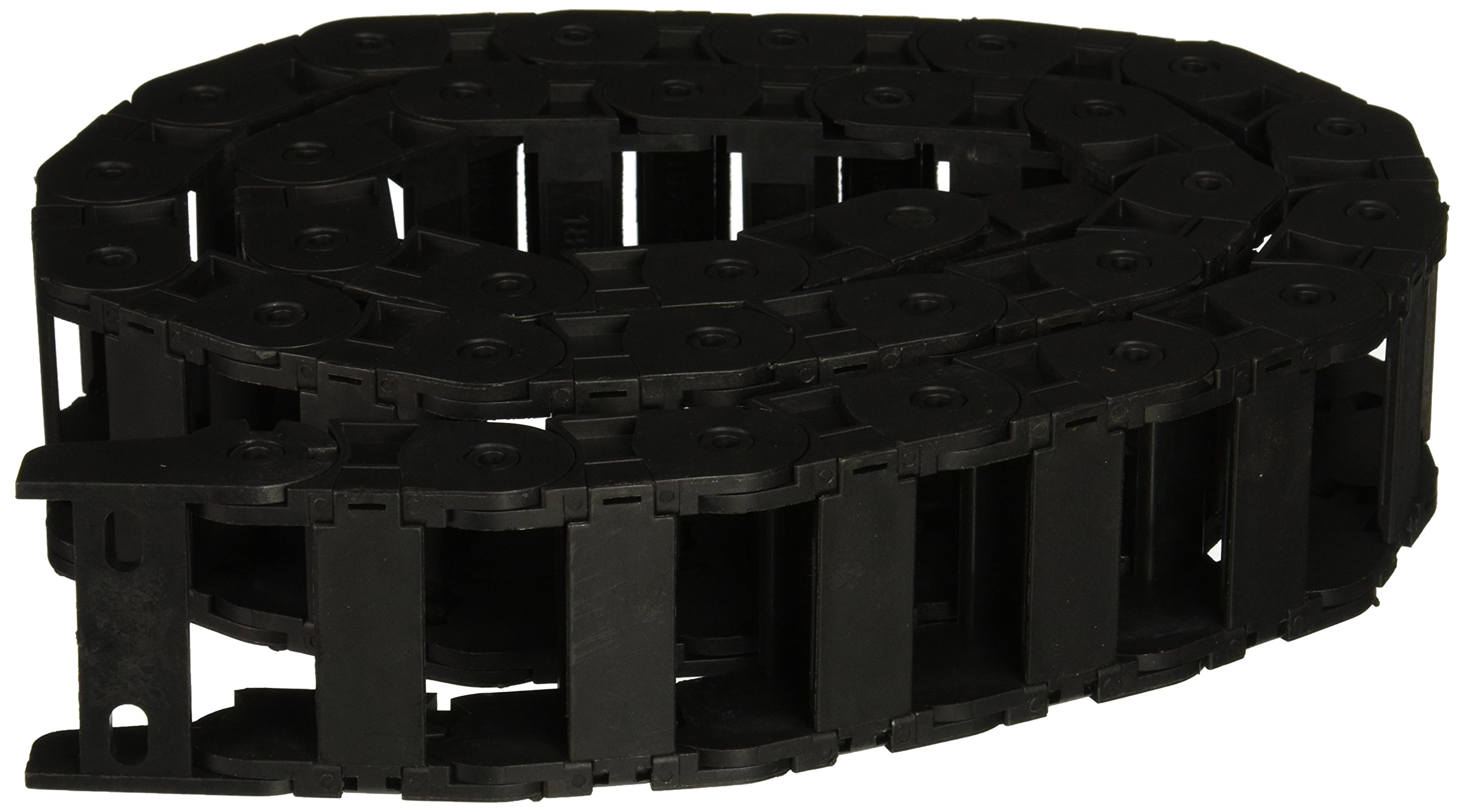 18 x 37mm Plastic Cable Drag Chain Wire Carrier Black 42 1/2''