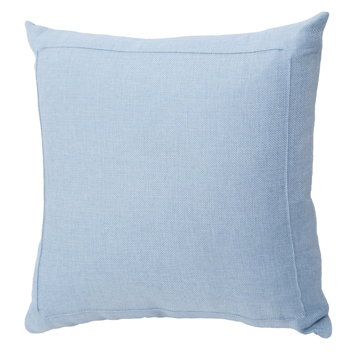 Jepeak Burlap Linen Throw Pillow Case Cushion Cover Farmhouse Decorative Solid Square Pillowcase, Thick, Luxury, Handmade with Invisible Zipper for Sofa Couch Bed (20'' x 20'', Baby Blue)