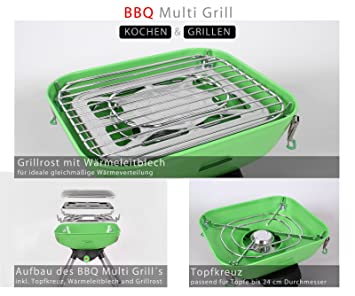 groden Berg BBQ Multi Barbacoa transportable de gas barbacoa parrilla de mesa Mini de barbacoa: Amazon.es: Deportes y aire libre