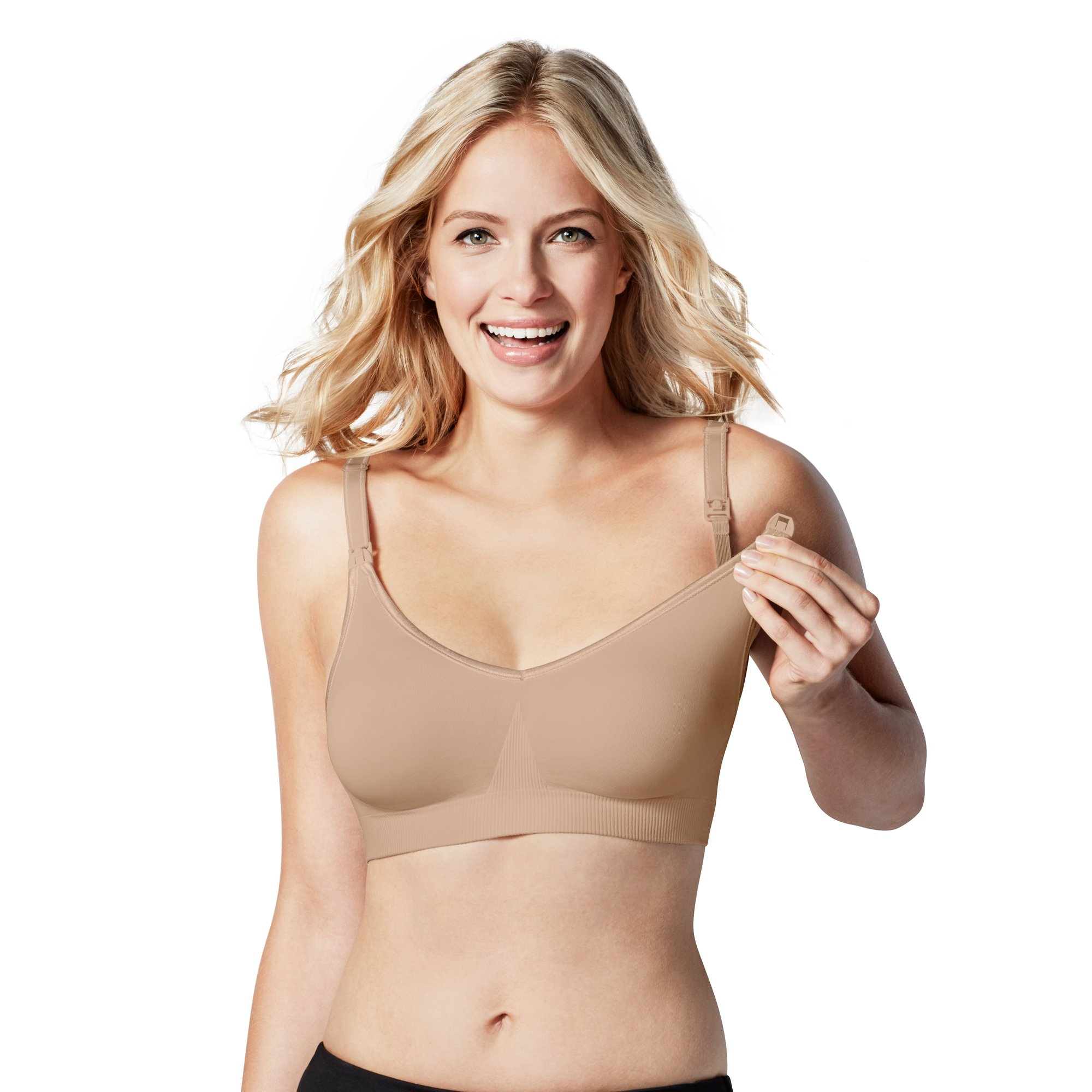 BRAVADO! DESIGNS Womens' Body Silk Seamless Nursing Bra - Butterscotch - Small