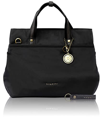 bugatti Contratempo RFID nylon ladies  tote bag - classic shopper in black   Amazon.co.uk  Shoes   Bags 305fccf182596