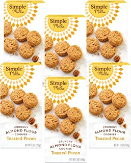 product image for Simple Mills Almond Flour Toasted Pecan Cookies, Gluten Free and Delicious Crunchy Cookies, Organic Coconut Oil, Good for Snacks, Made with whole foods, 6 Count (Packaging May Vary)