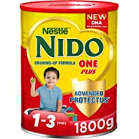 Nestle Nido One Plus Growing Up Milk Powder Tin for Toddlers 1-3 years, 1800gm-Promo Pack