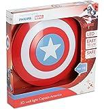 Philips Lampada da Parete Marvel Captain America in 3D, Batterie Incluse