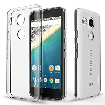 quality design d9f1a 895a0 Nexus 5X Case, PLESON® [Tou] LG Nexus 5X Clear Case Cover, Crystal  Clear/Dotted Slim Fit/Lightweight/Exact Fit/NO Bulkiness Clear back  panel+Soft TPU ...