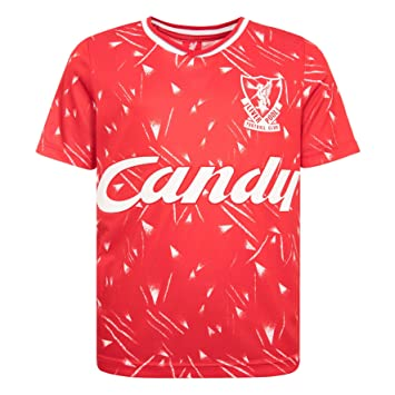 305e54f25 Liverpool FC Retro Polyester Red Kids Candy 1989-1991 Home Football Shirt  LFC Official Store