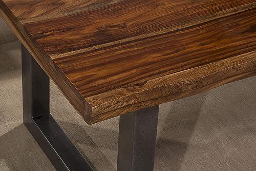 Hillsdale Furniture Emerson Wood End Table, Natural Sheesham