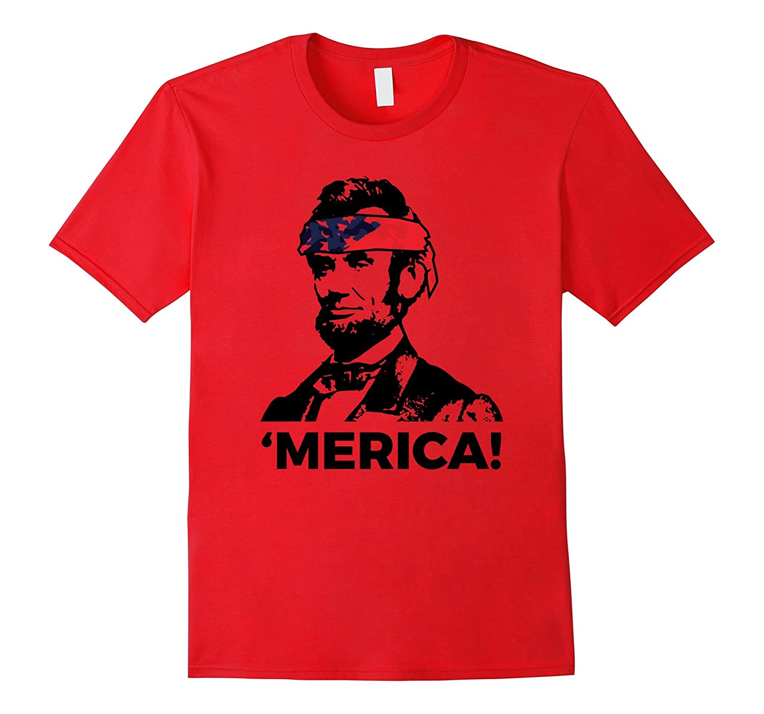 American Lincoln with Head Band Super Cool T-Shirt-TH