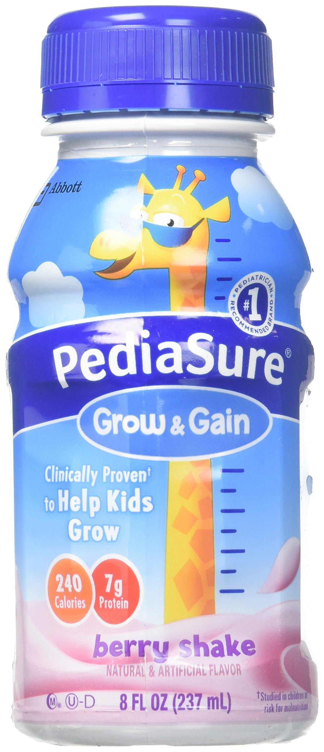 Pediasure Regular Nutrition Drink Bottles - Berry - 8 oz - 24 pk