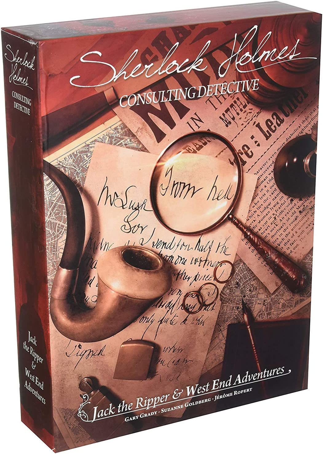 Amazon.com: Sherlock Holmes Consulting: Detective Jack the Ripper & West  End Adventures Strategy Board Game: Toys & Games