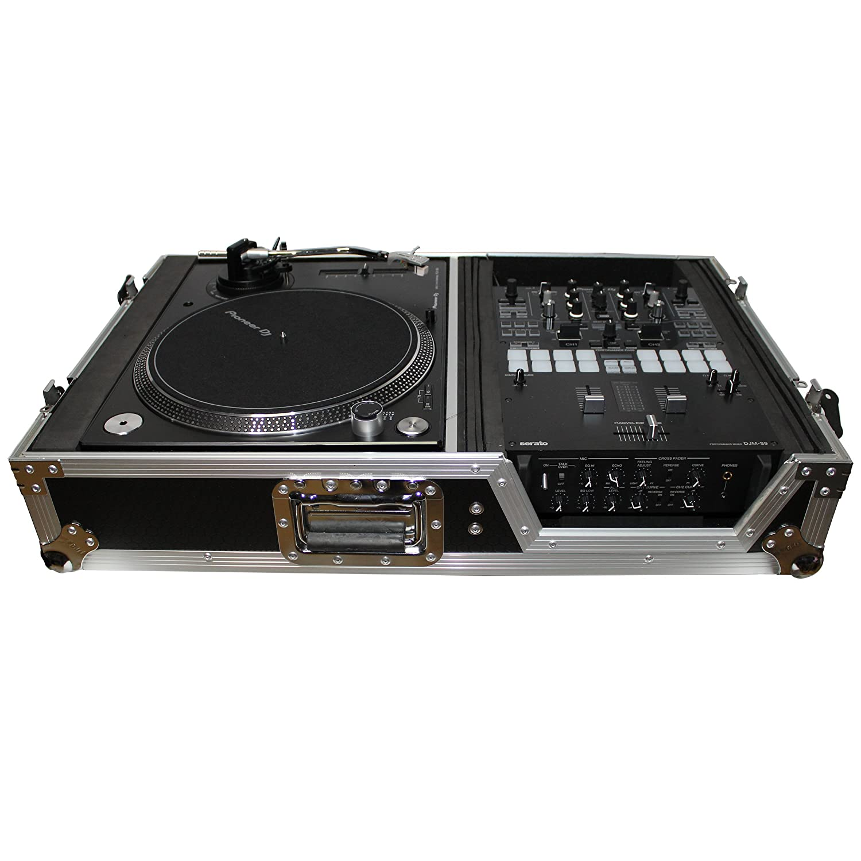 ProX XS-TMC1012W Flight Case w/ Wheels for Single Turntables+10/12 DJ Mixers