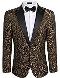 MY'S Men's Gangnam Style Bling Sequins Party Tuxedo Suit