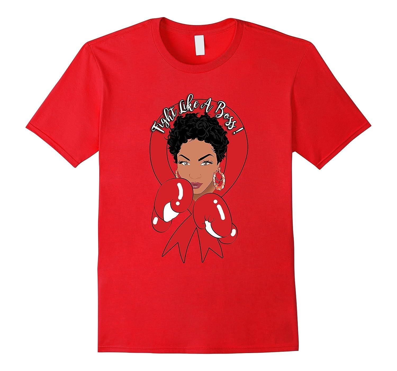 African American Heart Disease Awareness T Shirt-FL