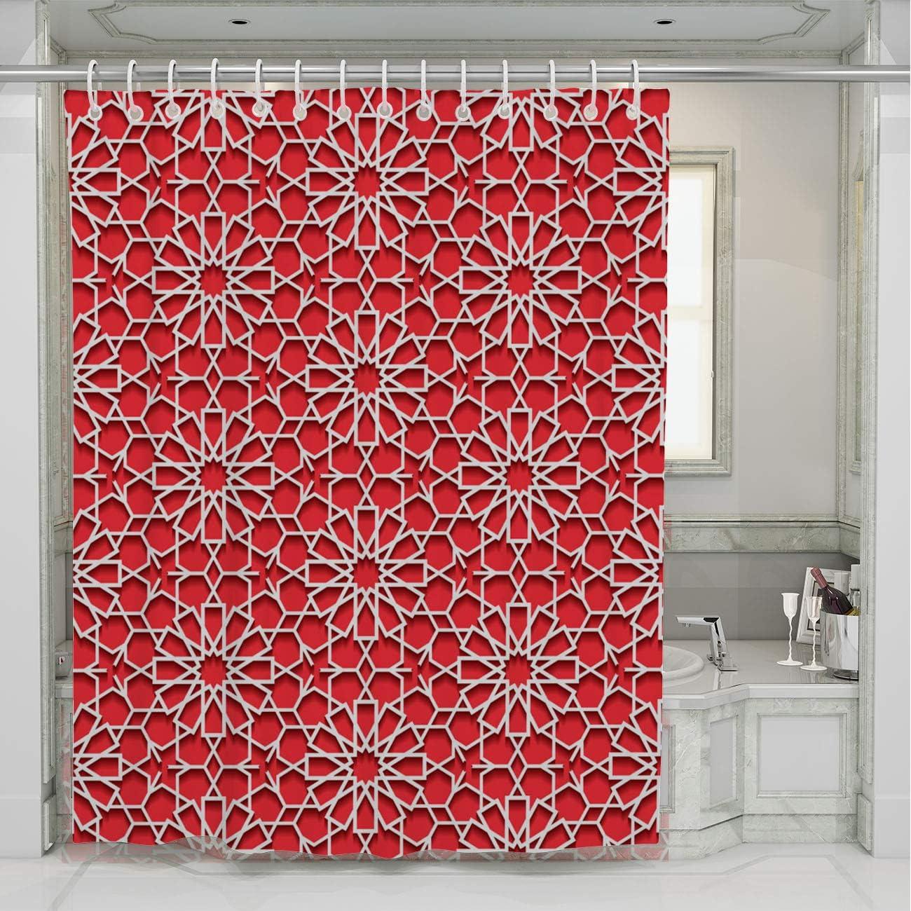 3D Impresi/ón Cortina de Ba/ño Cortina de Ba/ñera de 100/% Poli/éster con 12 Anillos 90x180cm,Azul Fansu Cortinas de Ducha de Antimoho Impermeable Antibacteriano Lavable