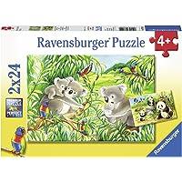 Ravensburger (78202) 2 X 24 Parça Puzzle Koalas Pandas