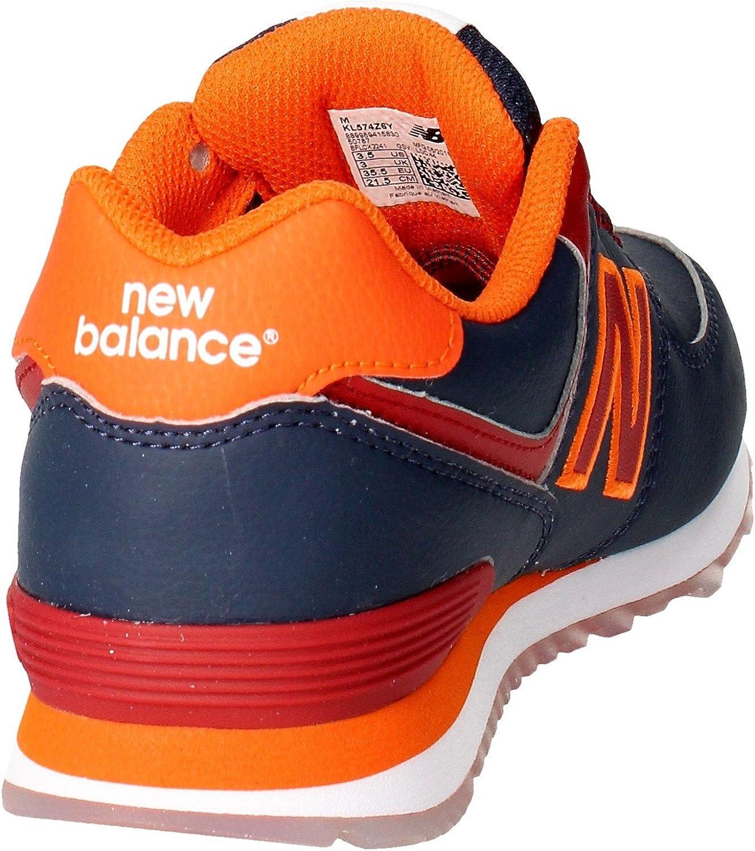 New Balance Unisex-Kinder K_574v1 Low-Top Blu/Arancio