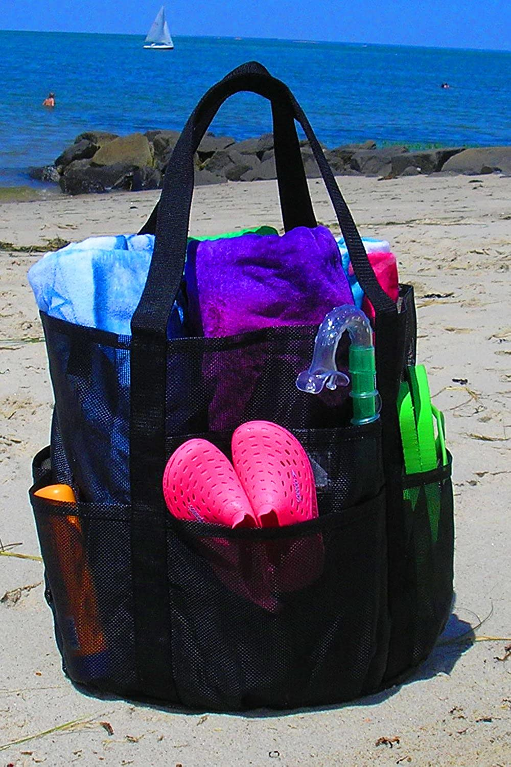 XL Heavy Duty Mesh Large Beach Shopping Boat Gym Sport Tailgate Tote Whale Bag