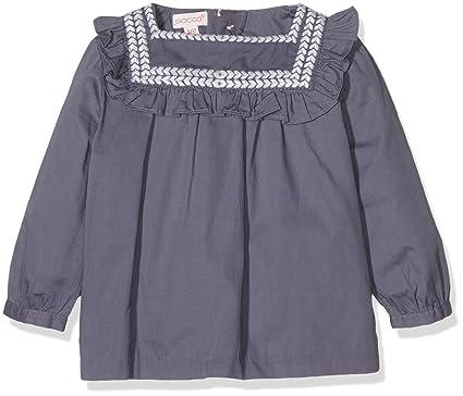 Gocco Blusa Bordada, Abrigo Bebé-para Niñas, Azul Perla 3-6 Meses: Amazon.es: Ropa y accesorios