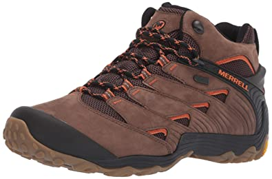22c92560a Merrell Men's Chameleon 7 Mid Waterproof Hiking Shoe