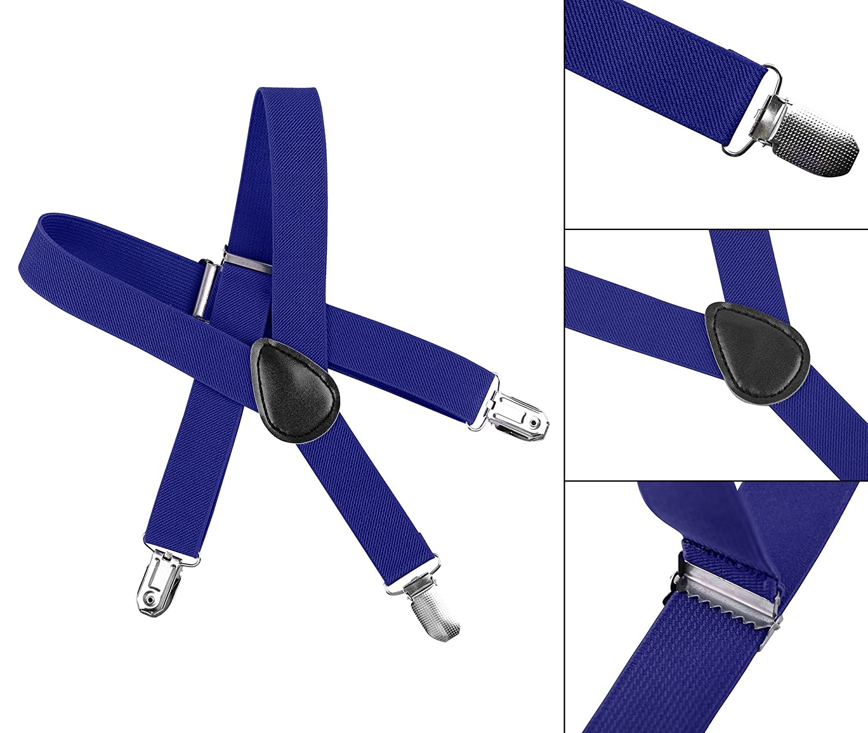 Kids Unisex Boys /& Girls Adjustable Dapper Suspenders Various Color