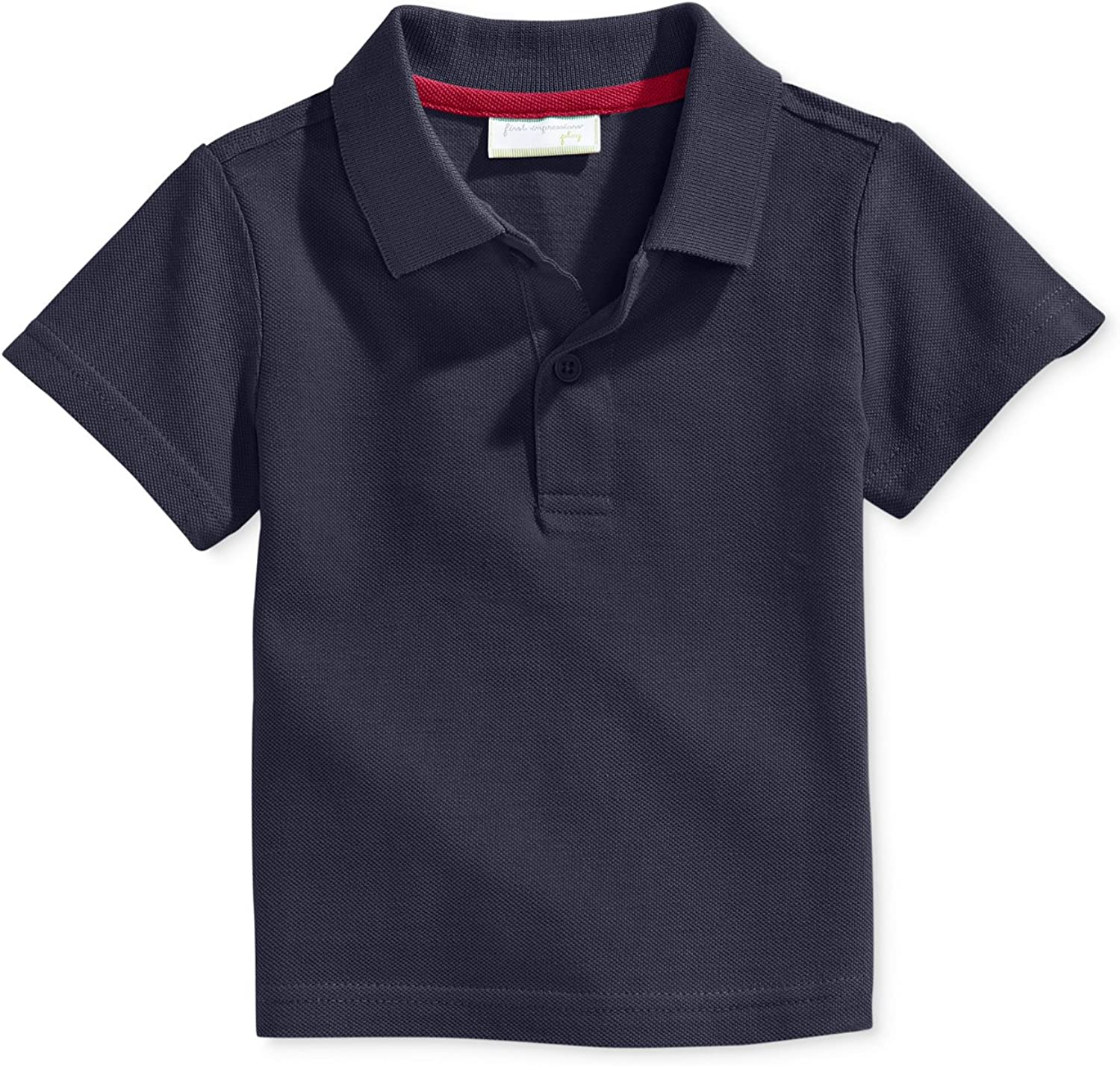 Baby Boys Navy 12 Months First Impressions Cotton Polo Shirt