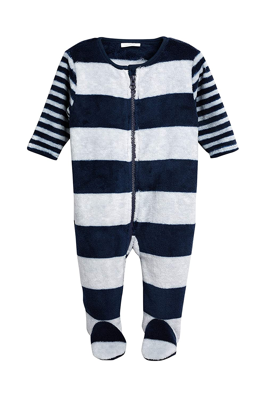 next Baby - Jungen Gestreifter Fleece-Schlafanzug