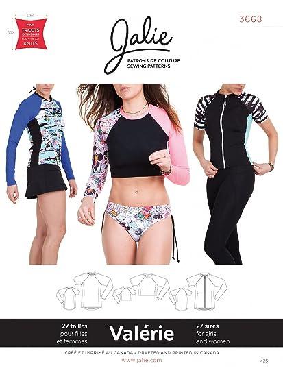 10f35ec4c93e Amazon.com: Jalie 3668 Swim Shirt Rash Guard Raglan Tee Sportswear Sewing  Pattern 3668: Arts, Crafts & Sewing