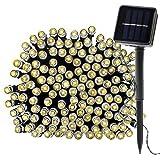 Alimentato ad Energia Solare Luci Della Stringa del LED, OMGAI 39Ft 100 LED Stellato luci Della Stringa Solare per le Decorazioni Natalizie per le Vacanze Patio Giardino Matrimonio Bianco Caldo [Classe di efficienza energetica A++]