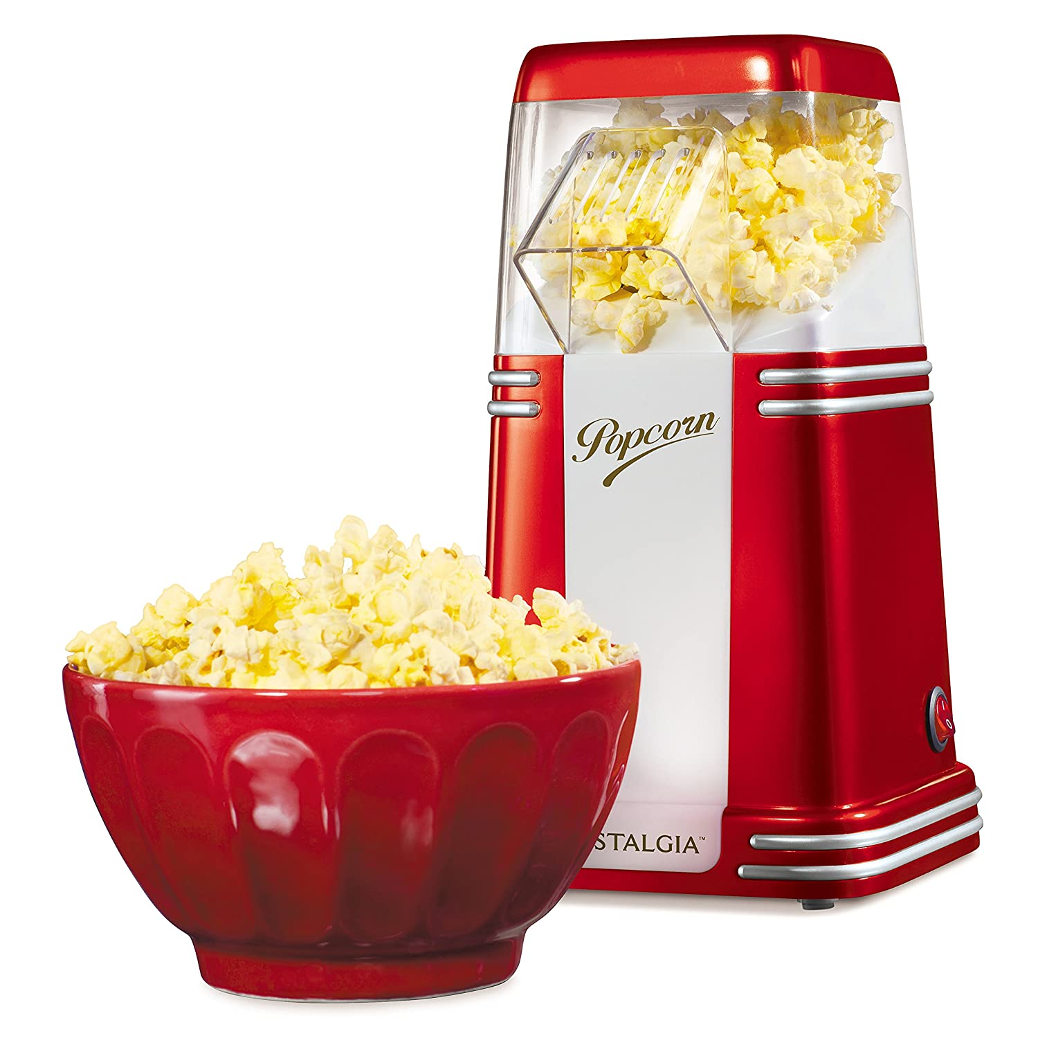 Nostalgia 8-Cup Hot Air Popcorn Maker
