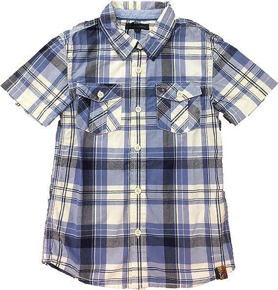 Tommy Hilfiger - Port Check, Camisa De Manga Corta, Niño, Color: Blanco/Azul, Talla: 6: Amazon.es: Ropa y accesorios