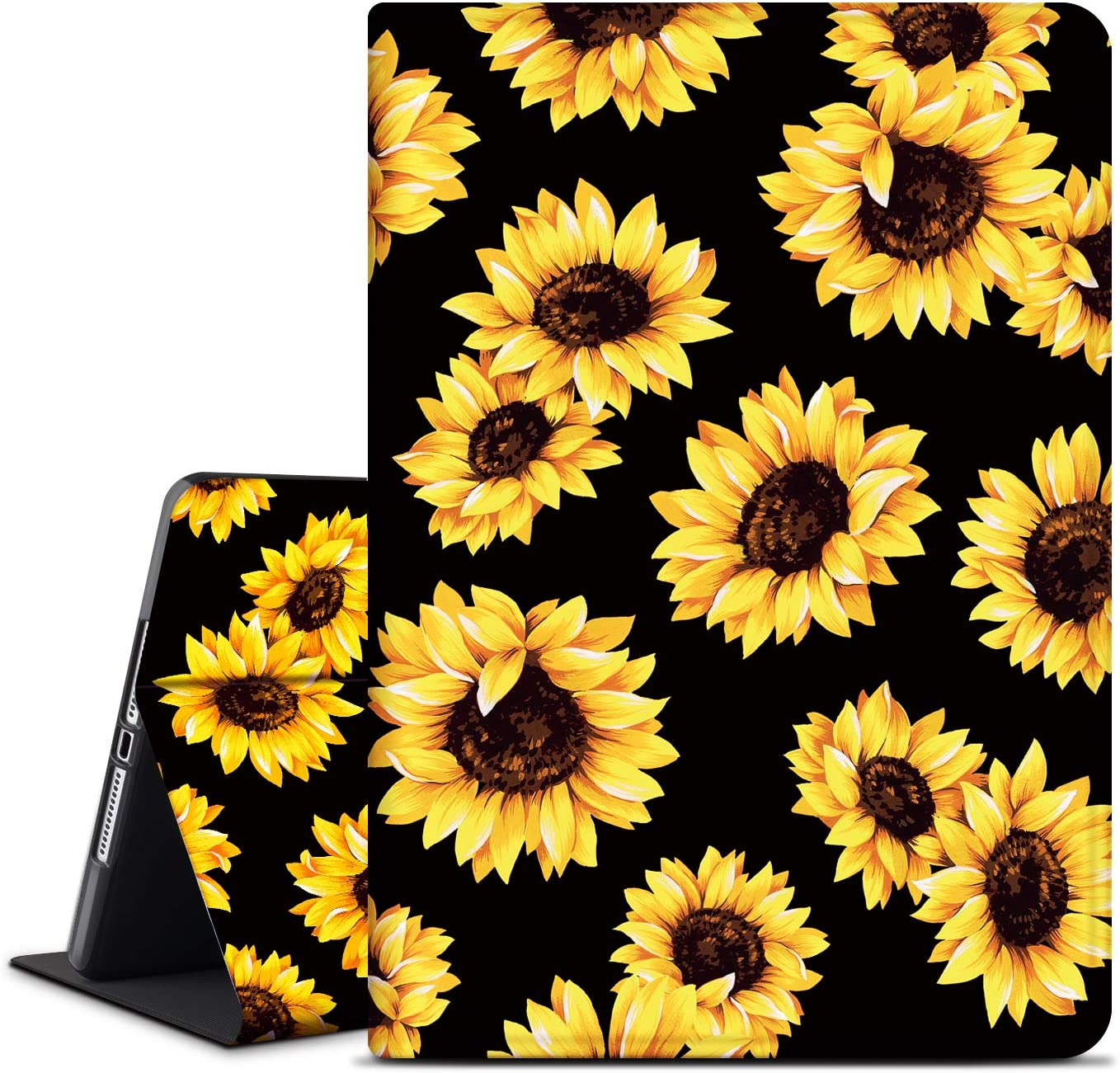INSSISAIN Case for iPad 8th Generation 2020 /iPad 7th Generation 2019 10.2 Inch, Multi-Angle Viewing Stand Shell, PU Leather Protective Cover with Auto Sleep for 10.2