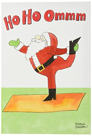 Amazon 1885 santa yoga funny merry christmas greeting card 1885 santa yoga funny merry christmas greeting card with 5quot x 7quot m4hsunfo